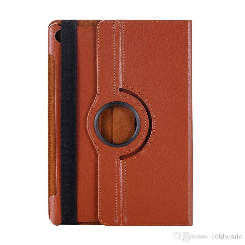 Rotary 360 Degree Rotating Litchi Flip Stand PU Leather Case For Huawei MediaPad M5 10.8 inch 10 Pro CMR-AL09 CMR-W09 Tablet Cover