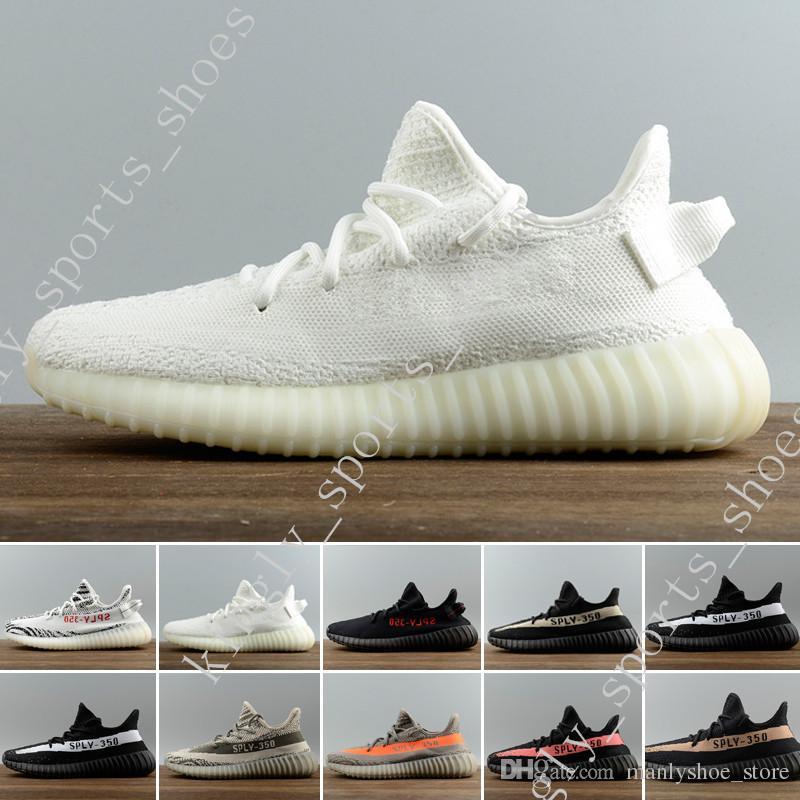 fc8cbc44c89 2019 Best SPY 350 V2 V3 Boots CP9366 Triple White Zebra UV Light Kanye West  Sneakers Mens Women Running Shoes For Men Designer Shoes Size 36 45 From ...