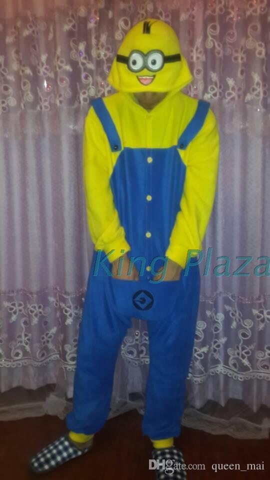 Cosplay despreocupado un ojo boca amarillo One Piece Pijamas Onesie Unisex Disfraz de Jorge japón pijama de dibujos animados animales Disfraz mono