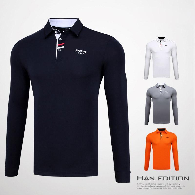c9862b5ab7 Compre Camisas De Golf De Los Hombres Calientes Manga Larga Para El Partido Camiseta  Elástica Camisa De Golf De Fondo Respirable Para Hombre Ropa Deportiva ...