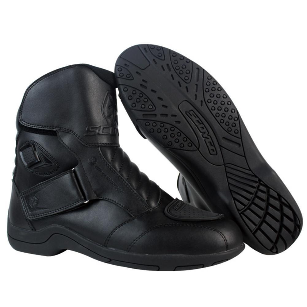 SCOYCO Racing Biker wasserdichte 01527 Stiefel Schuhe Botas Motorrad Leder Urban Motorrad Short Moto Sports Road A5R4jL