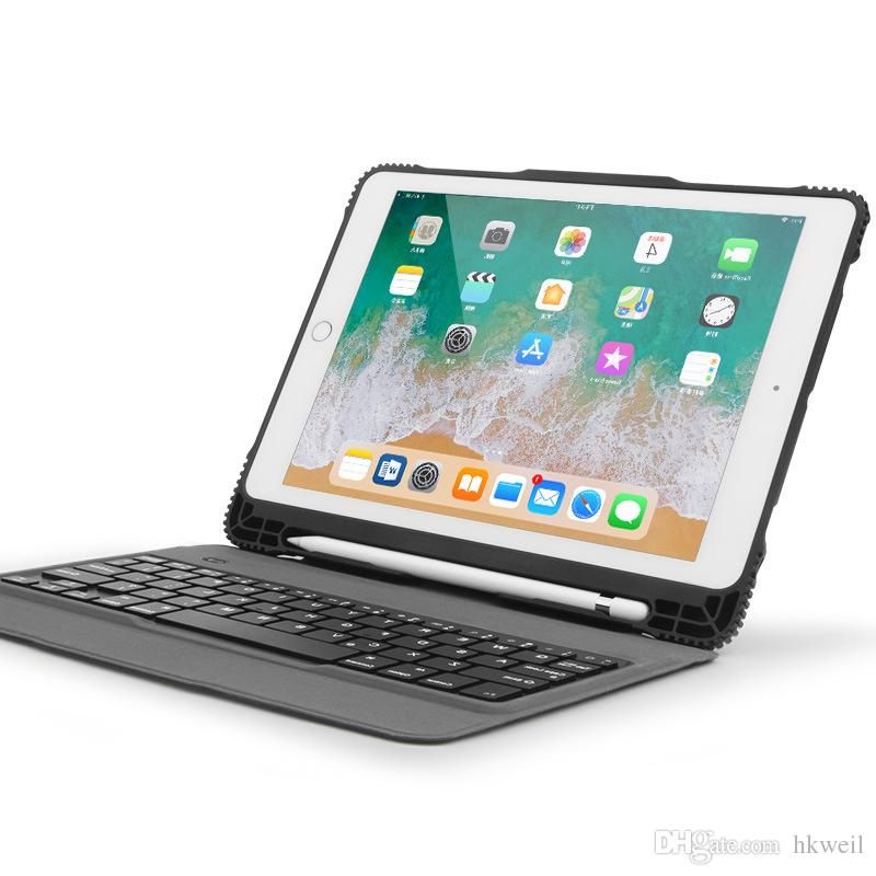 big sale 09d20 bdd08 Removable Bluetooth Keyboard Case Drop Resistance TPU Case With Pencil  Holder For Apple iPad Pro 9.7 10.5 Air 1 2