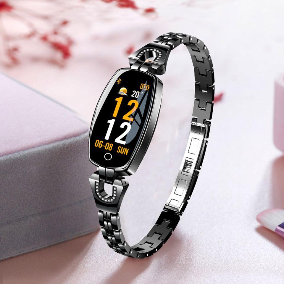 949d3bbf0604 H8 Pulsera inteligente para mujer Pulsera de ejercicios Monitor de ritmo  cardíaco Presión arterial Banda inteligente de oxígeno El mejor regalo ...