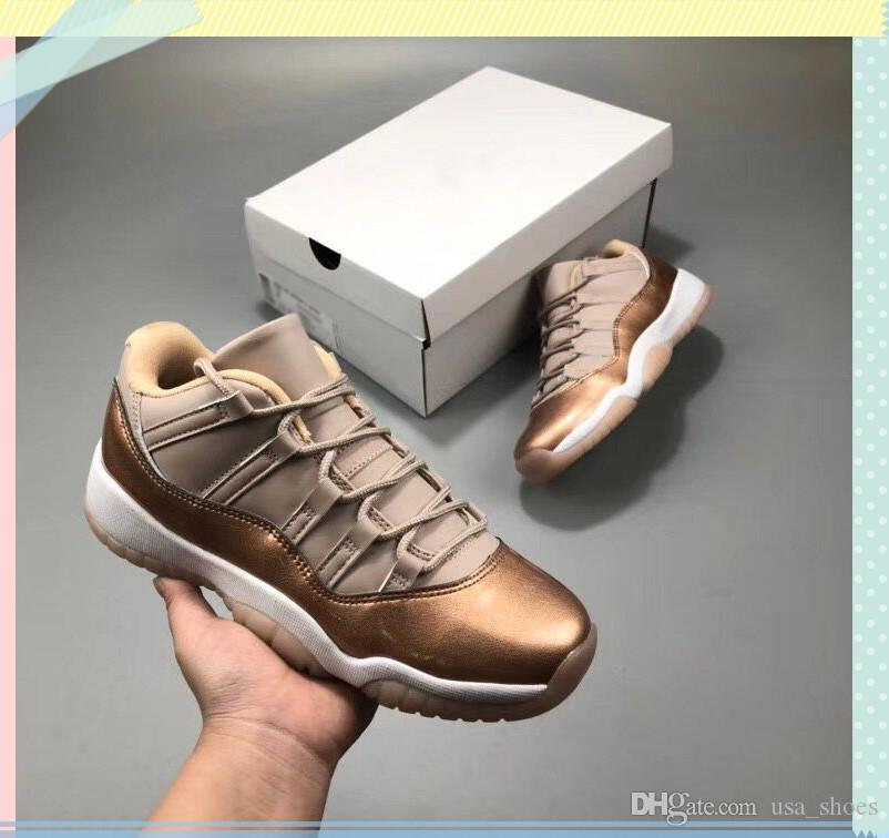 4ad0f1dbf With Box 11s Low Rose Gold Athletic Shoes Womens 11 WMNS Sail ...
