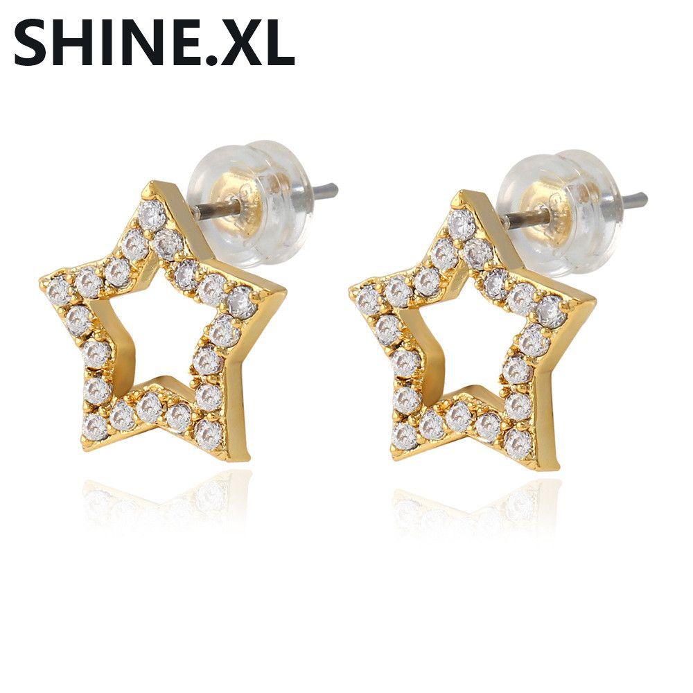 Hohe Qualität Marke Kupfer Gold Farbe Überzogene Ohrstecker Für Frauen Mädchen Mode Ohrringe Party Geschenk