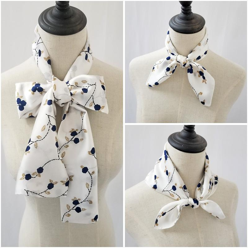 Acheter Square Femmes Cravate Floral + Long Foulard Femme Foulard ... cc29fcdef0f