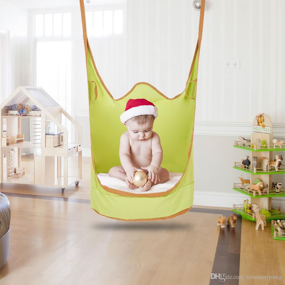 2018 Kids Pod Swing Chair Indoor Outdoor Soft Foldable Double Strap Hanging  Hammock Chair Swing Single Seat From Summerpang, $49.53 | Dhgate.Com