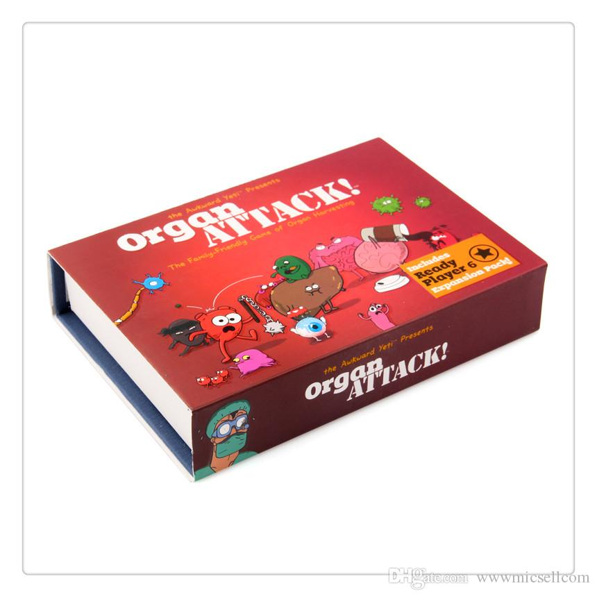 Funny Organ ATTACK! Cards Game 1 Organ Deck and 1 Attack Deck the Family-Friendly Game of Organ Harvesting