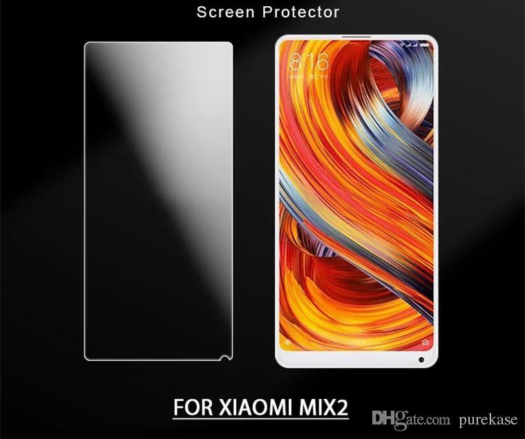 PURE KASE Защитная пленка для Xiaomi MIX2, высококачественная пленка из закаленного стекла с розничной упаковкой