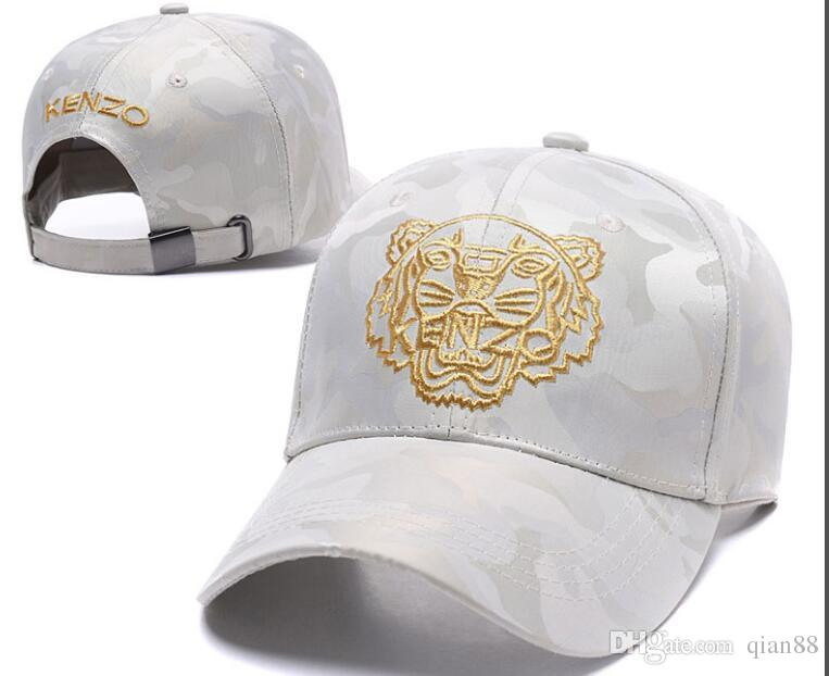 fe628dc49ef 2018 Designer Mens Baseball Caps New Brand Tiger Head Hats Gold Embroidered  Bone Men Women Casquette Sun Hat Gorras Sports Cap Drop Shipping Army Hats  ...