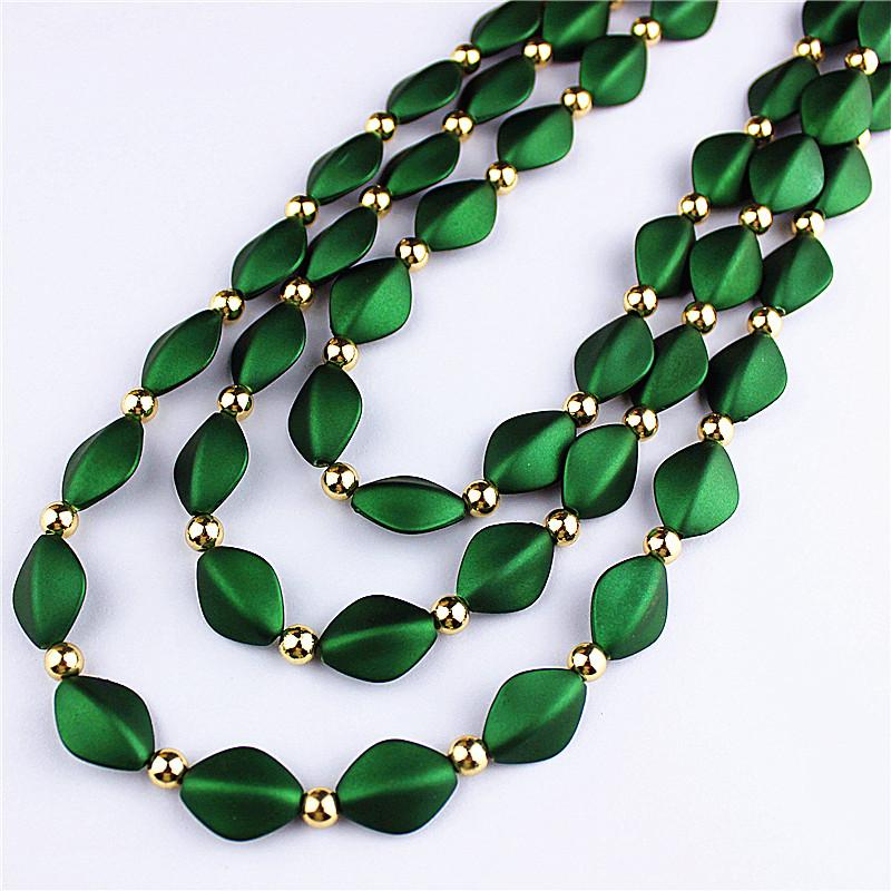 52acc1e575f7 2019 Hot Sell New Fashion Popular Female Jewelry, Girls Birthday Party,  Green Beautiful Handmade Beaded Necklace, From Luney, $33.6 | DHgate.Com