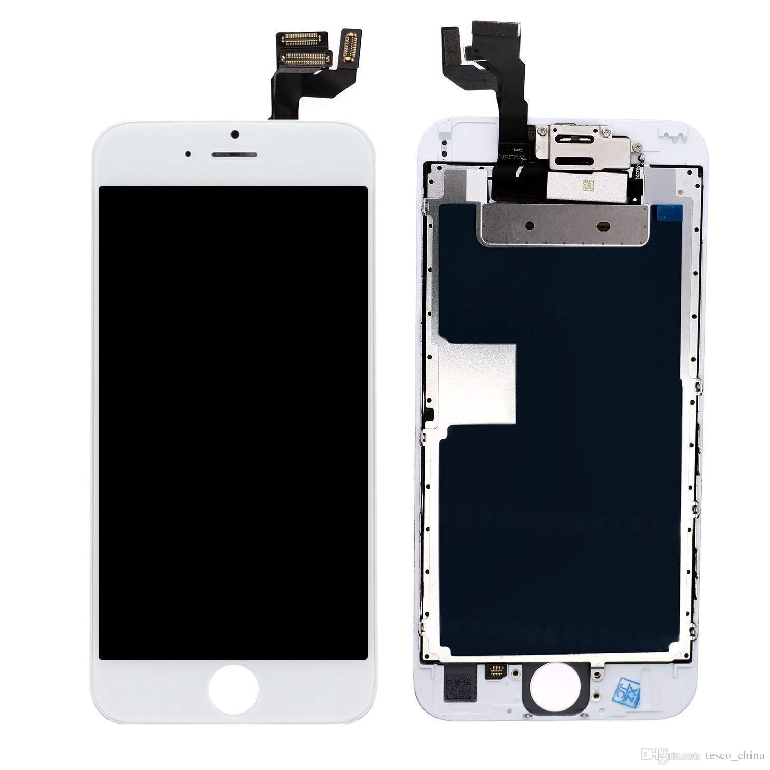 hot sale online 55754 d0a56 High Quality Screen Replacement for iPhone 6S White, LCD Display with 3D  Touch Screen Digitizer Full Assembly