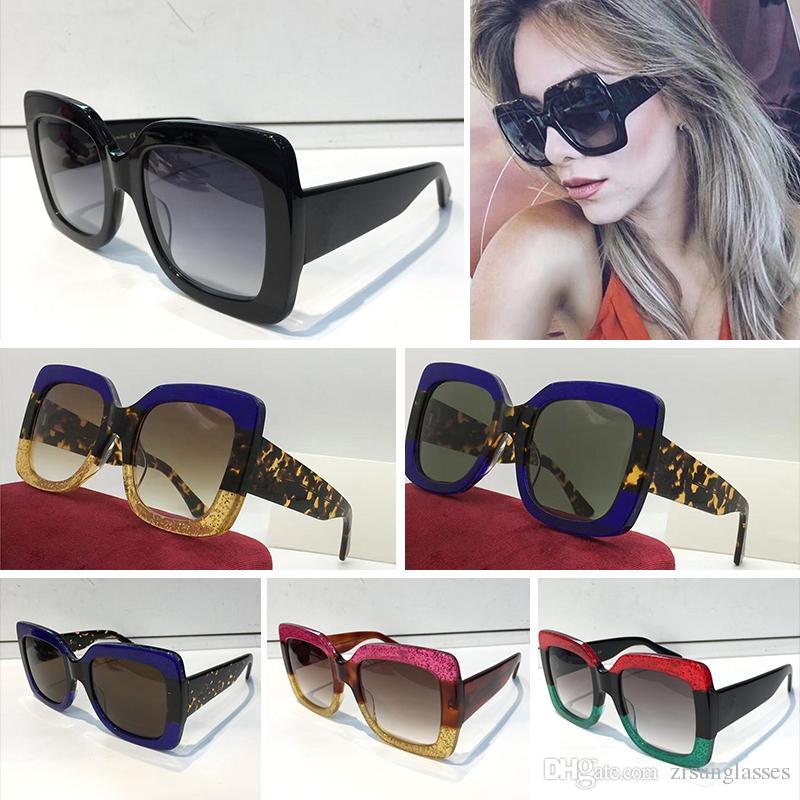 Compre 0083 Popular Óculos De Sol Das Gucci Mulheres De Luxo Designer De  Marca 0083S Estilo Quadrado De Verão Quadro Cheio De Qualidade Superior  Proteção UV ... c99f43d0db