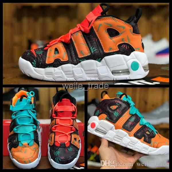 a757c568d 2018 Air More Uptempo Mens Womens Basketball Shoes Designer Men Scottie  Pippen Triple Orange White Athletic Sports Sneakers Chausseures Mens  Sneakers ...