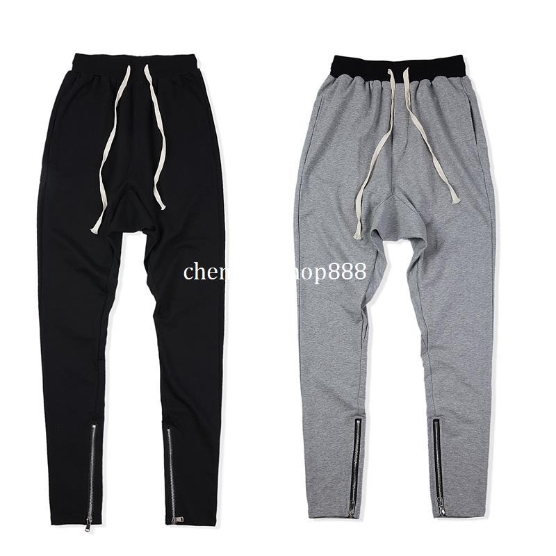 630d81e1439 2018 NEW Design Justin Bieber Bottom Side Zipper Black Gray Men Casual  Joggers Pants Hip Hop Fashion Casual Jogging Pant S-XL Online Shopping  Online with ...