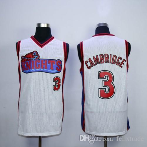79f845ea9c2f Men S Calvin Cambridge Jersey  3 Like Mike LA Knights Movie Basketball  Jerseys White Red Stiched Name   Number   Logos Canada 2019 From  Felixtrade