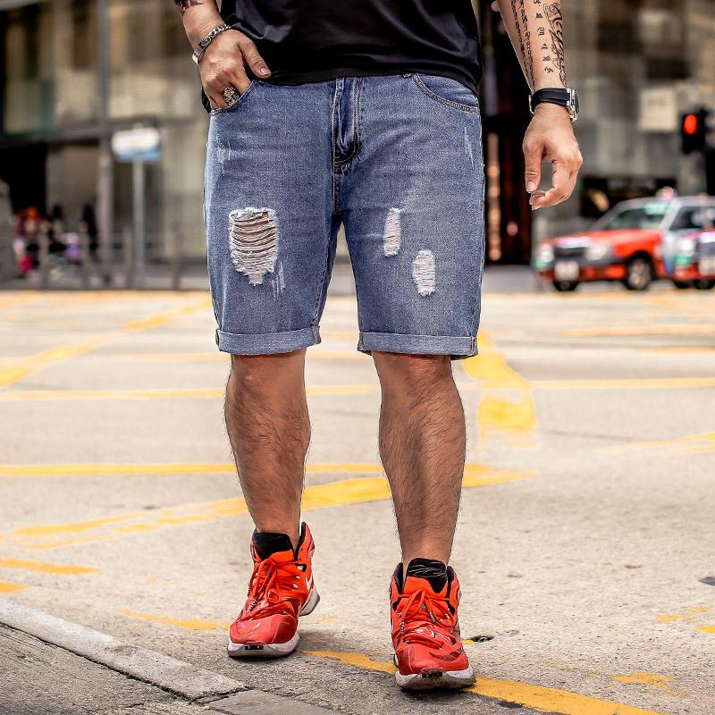 3e7170e8a4a 2019 GXXH Mens Denim Shorts Plus Size 28 48 Big And Tall Mens Ripped  Stretch Jeans Shorts Retro Casual Style Distressed S 8XL From Xianfeiyu