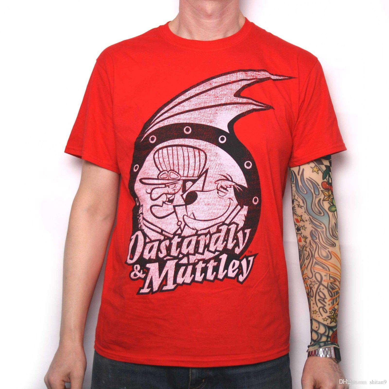 b9d70daca6 HANNA BARBERA DASTARDLEY & MUTLEY T SHIRT 100% OFFICIAL WACKY RACES Funny  Printed T Shirts Cool Tee From Shitan9, $11.78| DHgate.Com