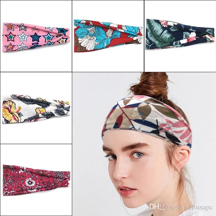 Women S Headband Yoga Running Exercise Sports Workout Athletic Gym Wide  Sweat Wicking Stretchy No Slip Ladies Headbands Fashion Headbands For  Ladies From ... 226e882b428