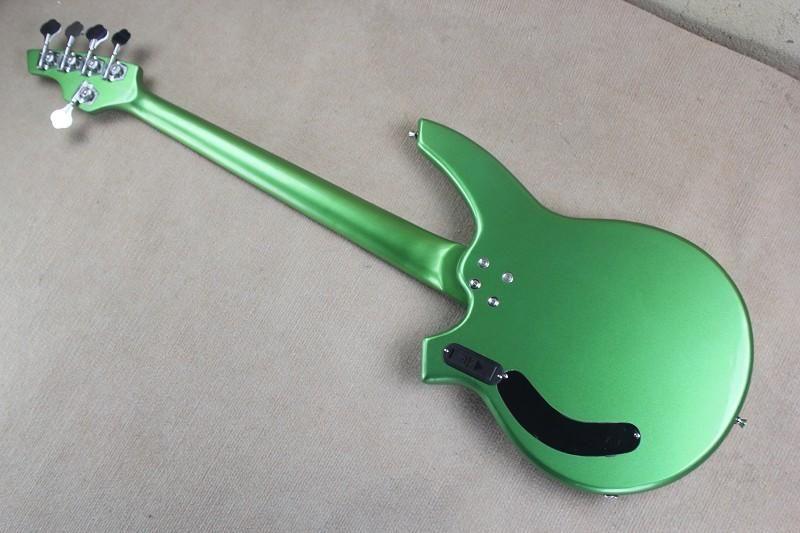 Metalic Green Custom Music Man Bass Bongo 5 Strings Electric Bass Guitar Musicman with active pickups 9V battery