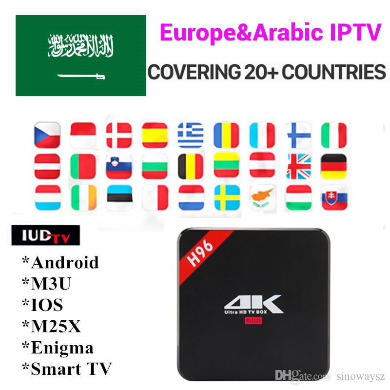 iptv subscription Android 6 0 Tv Box H96 RK3229 1G 8G Europe Sweden Greece  France Netherlands Spain UK IPTV Smart ip tv box