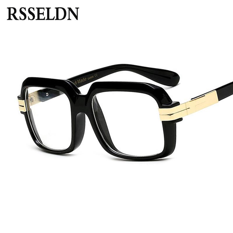 dd4fd80bfa RSSELDN Fashion Lasses Frames For Men Women Designer Clear Lens ...