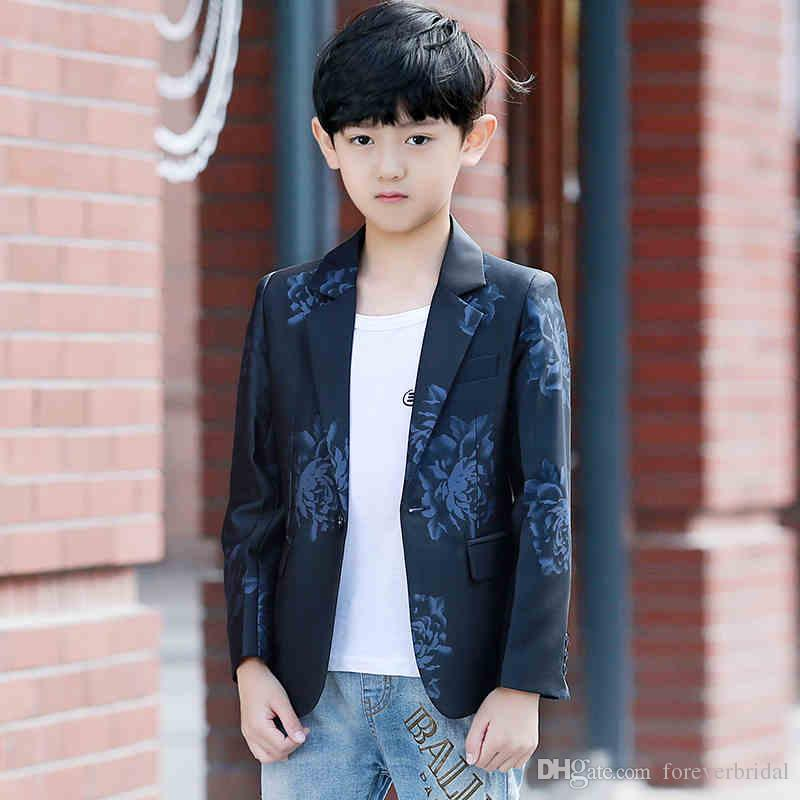 78a6233ec222 2018 Autumn Winter Fashion Kids Casual Suits Blazer One Button Shawl Lapel  Outdoor Coats Windproof Jackets Party Clothing Dress Boy Dress For Boys  From ...