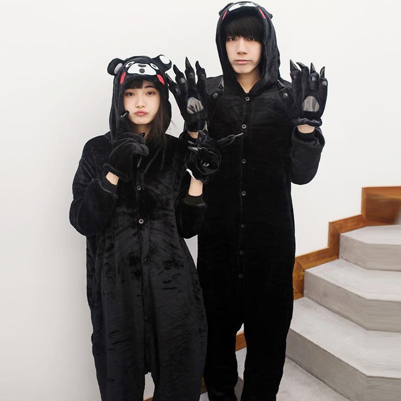 2019 Kigurumi Adult Kumamon Pajamas For Unisex Couple Cartoon Unisex  Cosplay Animal Pyjama Winter Sleepwear Men Costume Home Pijama From Isaaco 89be7f1ee