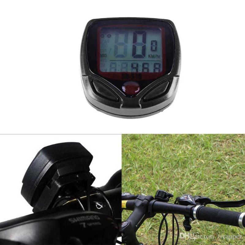 Bicycle Bike Cycling Computer LCD Odometer Speedometer Stopwatch Speed Meter JT