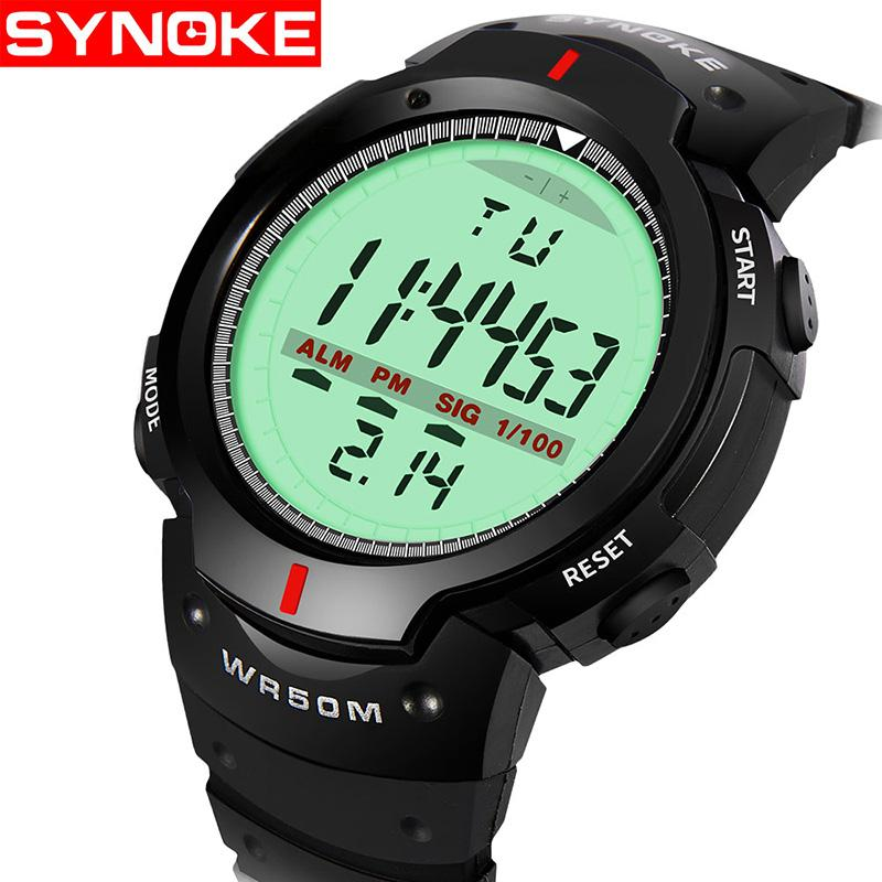 f371bb1302 Men's Clock Sport Digital LED Waterproof Wrist Watch Luxury Men Analog  Digital Army Stylish Mens Electronic Watch Clock