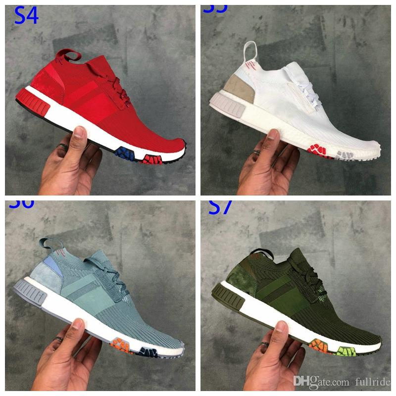 size 40 81e81 f7ac1 NMD Racer Primeknit PK Human Race Pharrell Williams Running Shoes Fashion  Street Culture High Quality Outdoor Men And Women Sports Shoes Trail  Running Shoes ...