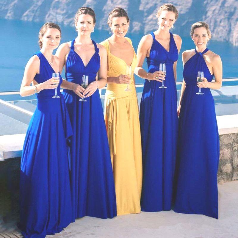 2018 Summer Sexy Bohemian Infinity Dress Women Long Beach Dress Bandage  Multiway Bridesmaids Convertible Maxi Dinner Party Dress Y1891107 Casual  Long White ... f492829fd24b