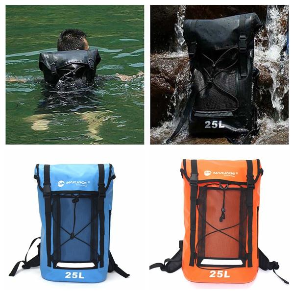 2019 Rafting 25L Waterproof Backpack Dry Bag Large Capacity Zip Daypack Outdoor  Travel Camping Drifting Kayaking Pocket DDA727 Dry Storage From ... 3f88a7e6458ff
