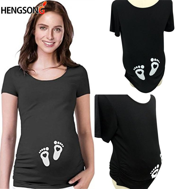 a041e3faa1625 Fashion Pregnant Maternity T Shirts Casual Pregnancy Maternity Clothes Tees  Short Sleeve Simple Style O Neck T Shirt Tops Gag T Shirts T Shirts With  Prints ...