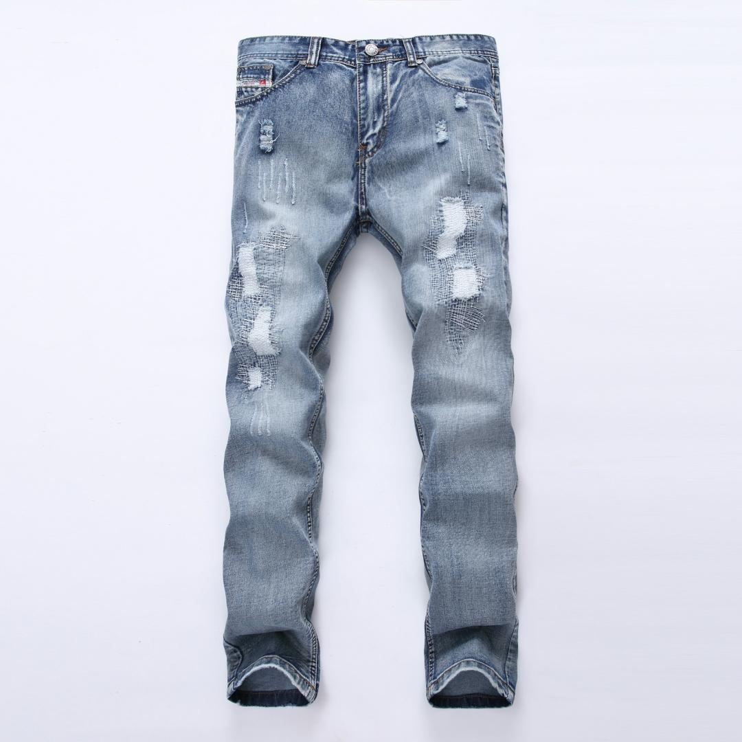 496517f7d Compre Jeans Rectos De Color Claro Para Hombres De Europa Y América Jeans Rectos  Para Hombre A  47.7 Del Sadlyric
