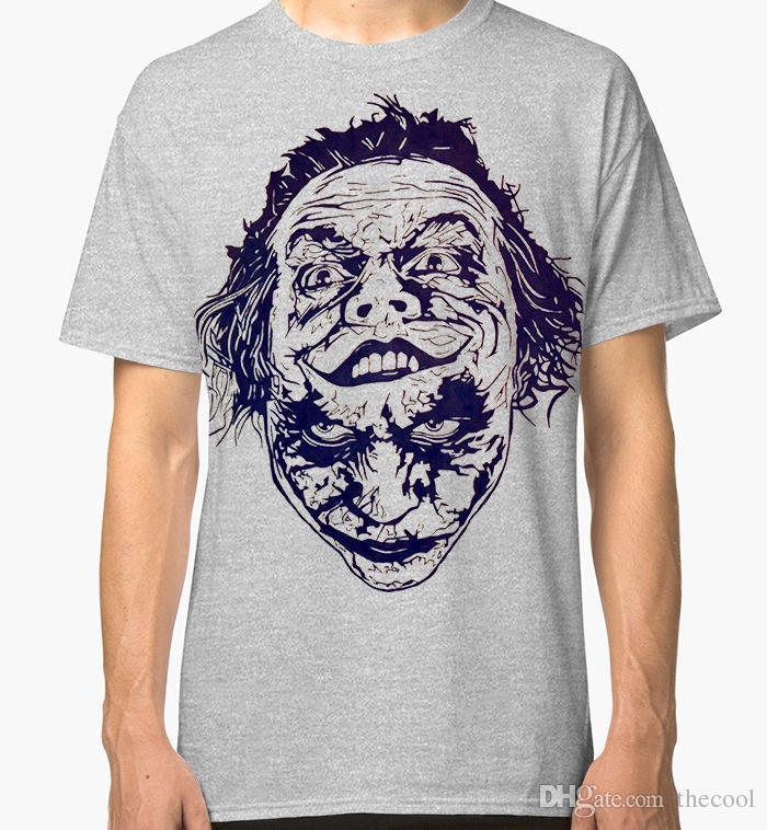 3bb9c44717b8 Joker T Shirt Men S Women S DC Comics Jack Nicholson Heath Ledger Combo Tee  Cheap T Shirts Online Biker T Shirts From Tshir4u
