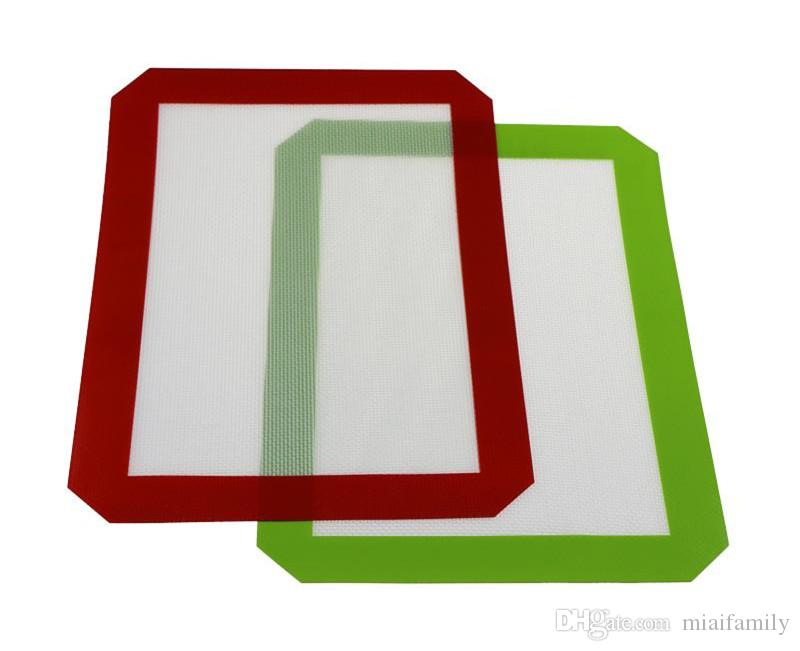 Non-Stick Silicone Dab Mats For Wax 30CM x 21CM 11.81 x 8.27 inch Silicone Baking Mat Dab Oil Bake Dry Herb DHL free