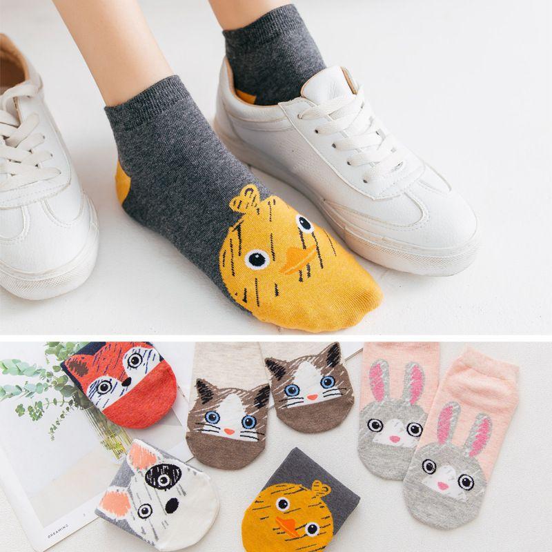 Cheap Sale Hot 2019 Cartoon Socks Female Girl Kawaii Owl Print Dress Socks Casual Fashion Harajuku Cotton Socks Simple Socks Calcitenes Socks