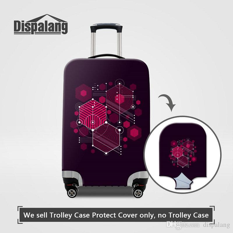 Women Men Personalized Case For A Suitcase 3D Geometry Pattern Elastic Luggage Cover Dust Rain Thick Traveling Bag Covers Travel Accessores