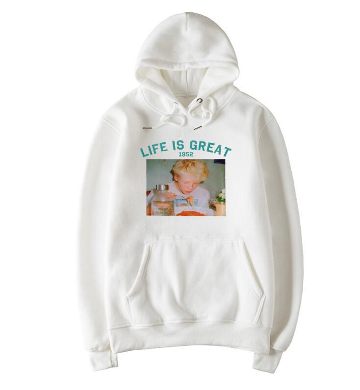 Sweatshirts With Quotes   2019 Autumn Winter Cute Quotes Hoodie With Hat Vintage Retro 90s
