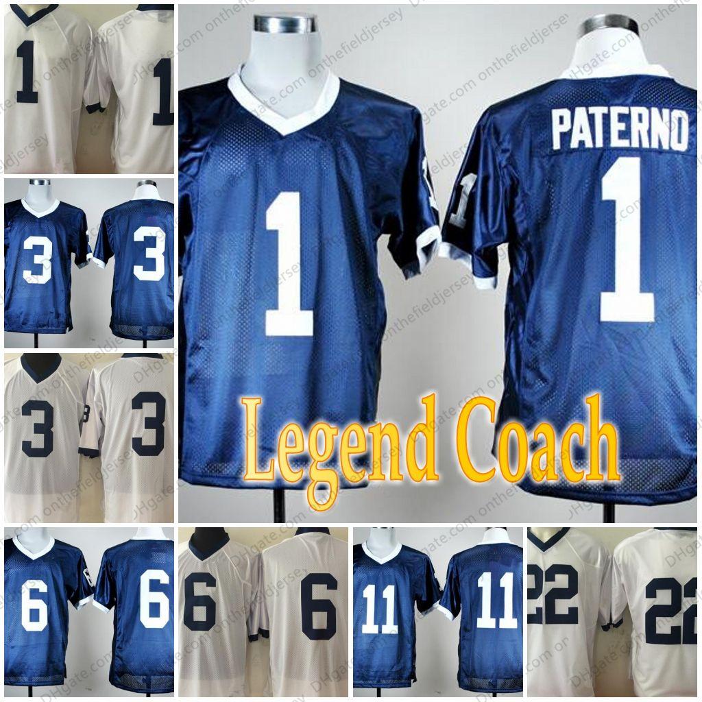 2019 Penn State Nittany Lions Legend Coach Retro  1 Joe Paterno  3  6  11   22 NCAA College Football Jerseys S 3XL From Onthefieldjersey 494536473