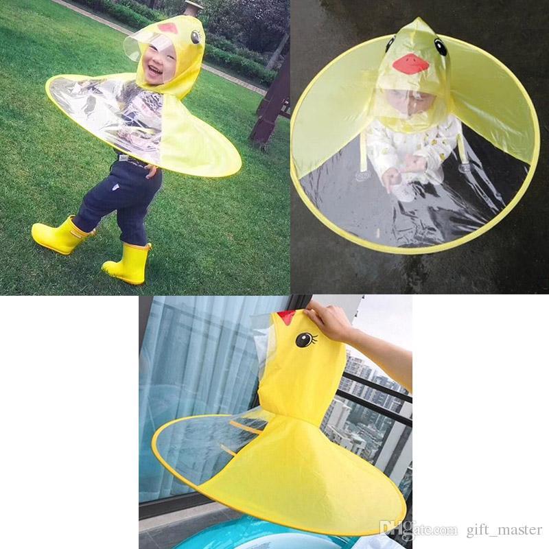0ac4fa8a538d4 Foldable UFO Cap Umbrella Hat Cartoon Raincoats Portable Headwear Creative  Rain Hat Waterproof Hands Free Rain Coat Cover Umbrella Rainwear Rain  Slickers ...