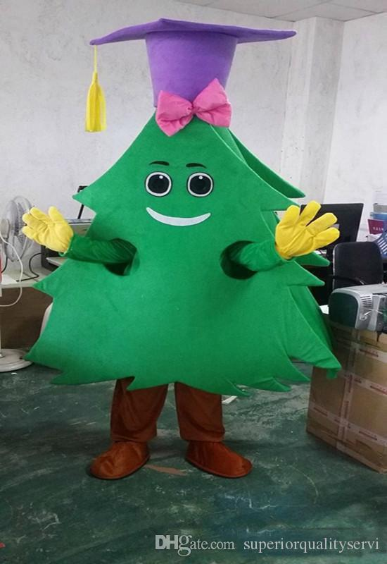 The most popular Christmas Halloween Christmas tree costumes for Halloween party supplies adult size mascot free shipping