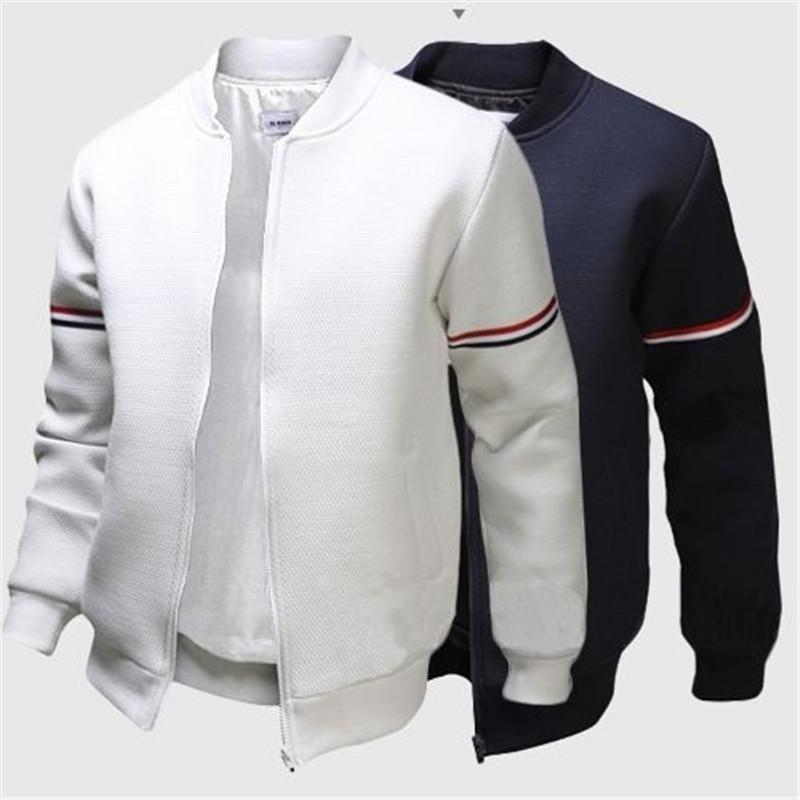 3875b341 Jacket Windbreaker Mens Jacket Casual Slim Stand Collar Polyester Long  Sleeve Zipper Spring Autumn Outdoor Coats Black White Navy Oversized Coat  Womens ...