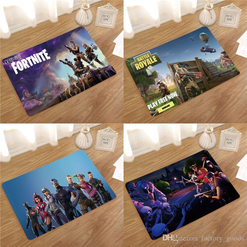 Fortnite Non Slip Mat Cartoon Flannel Bathroom Waterproof Mats For