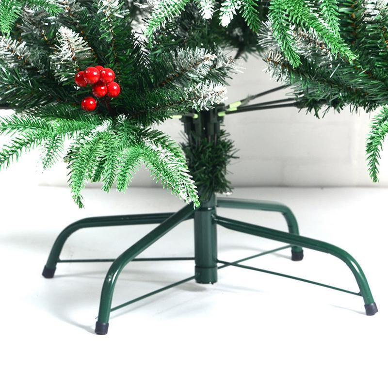 Christmas Tree Stand Green Metal Holder Base Cast Iron Stand 4 Feets