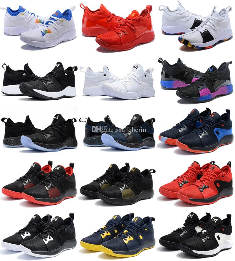 02f98d82b9a 2018 New Colors Paul George 2 Basketball Shoes For Cheap Top Quality PG2 1  All Star Playstation Multicolor PG 2s Athletic Sneakers US 7 12 Sneakers  Sale ...