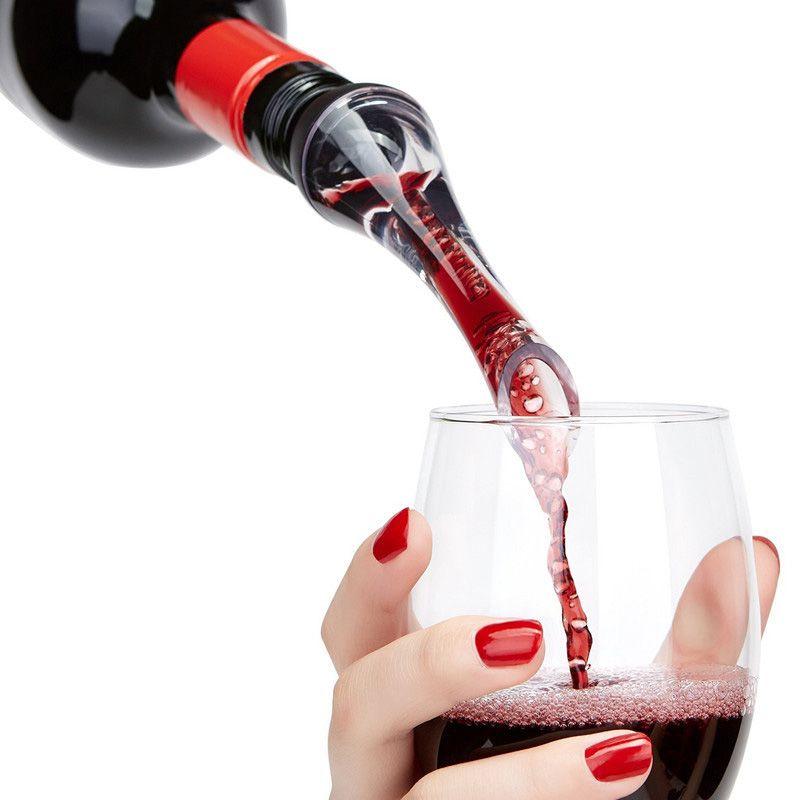 와인 Pourers Aerator 레드 와인 Aerating Pourer 미니 마술 레드 와인 병 디켄터 아크릴 필터 도구 DHL 무료 WX9-245
