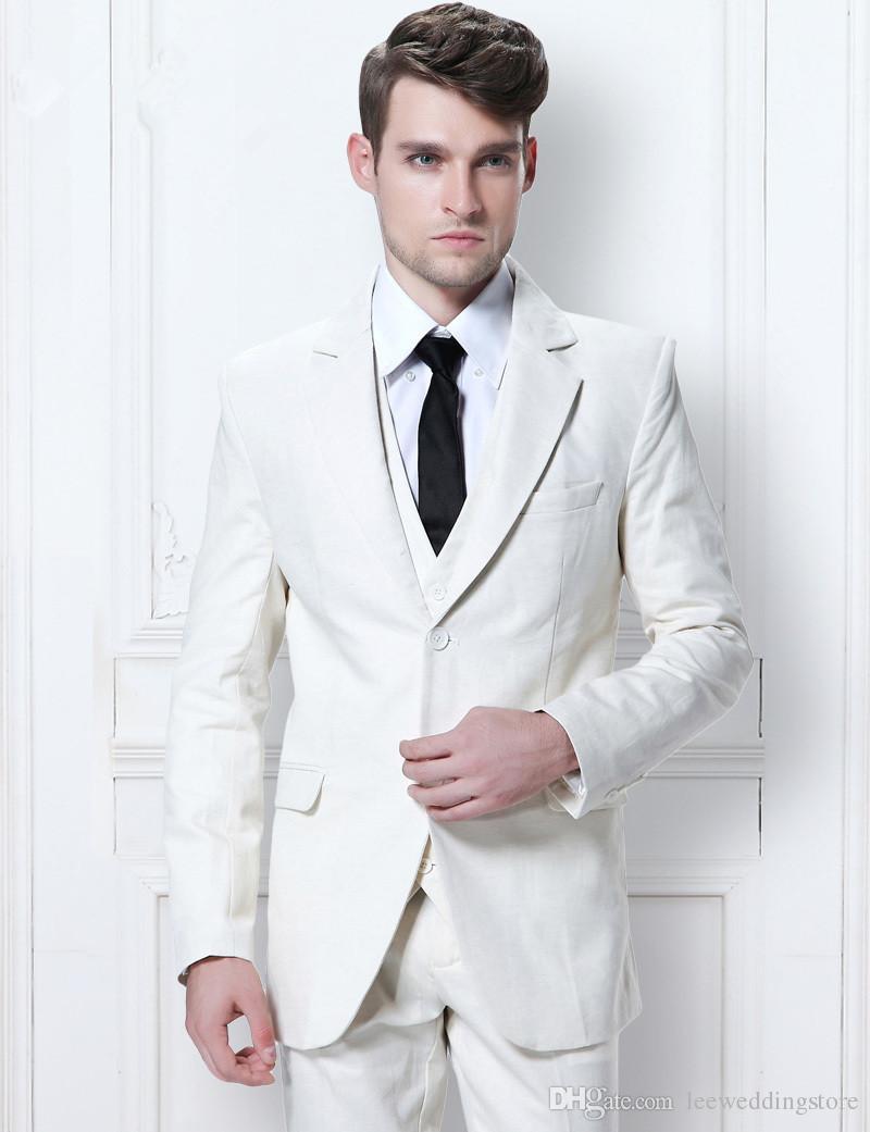 89f5ba7d4 White Men Suits Blazer Wedding Suits Business Suits Tailored Tuxedo ...