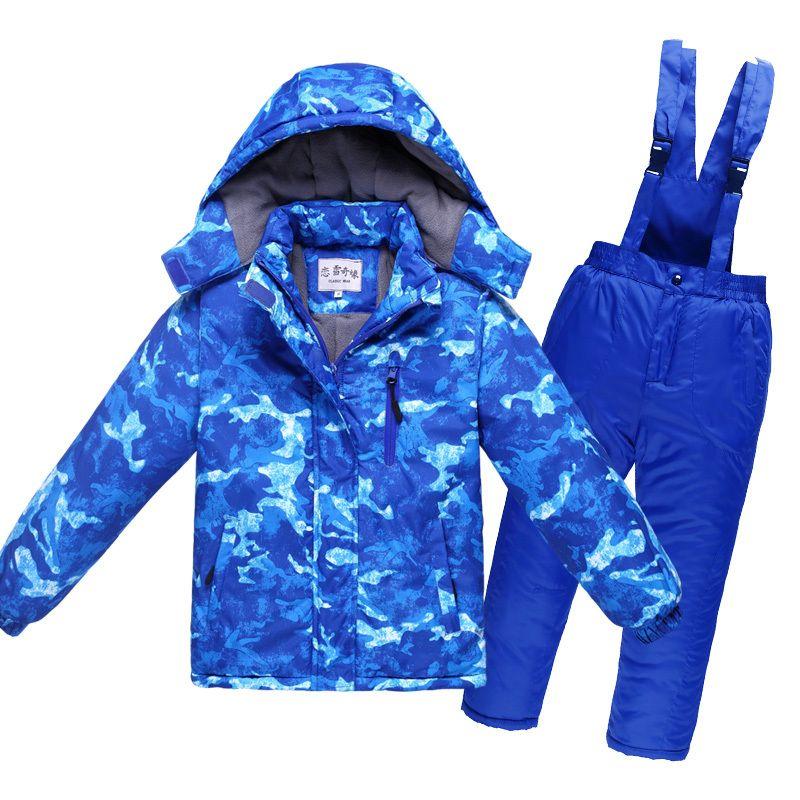 1b136bab2a1e 2019 4~12T Teenage Winter Children Waterproof Ski Suit Kids Jacket ...
